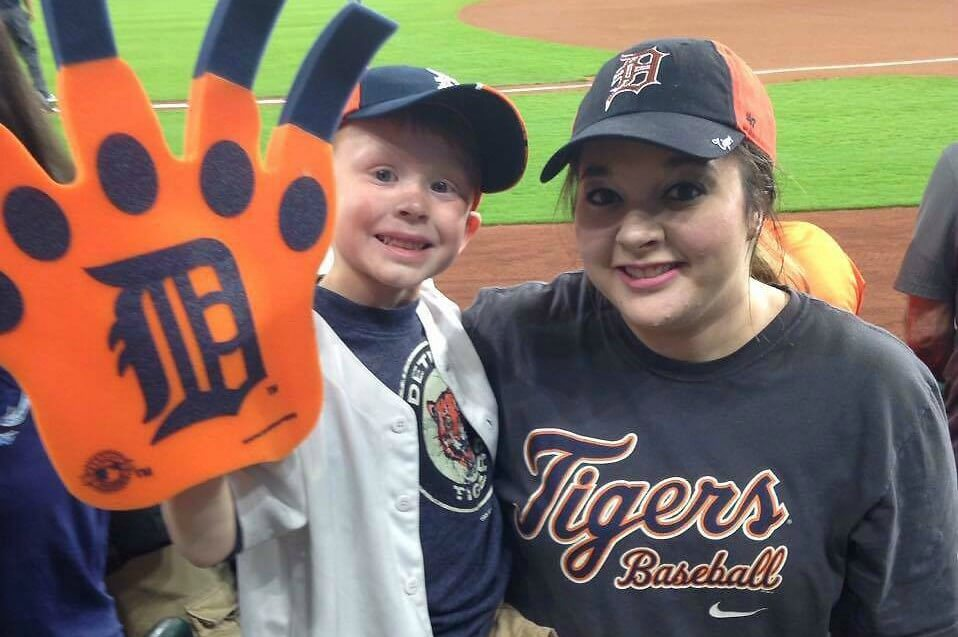 MOTHER/SON TIGERS BALLGAME
