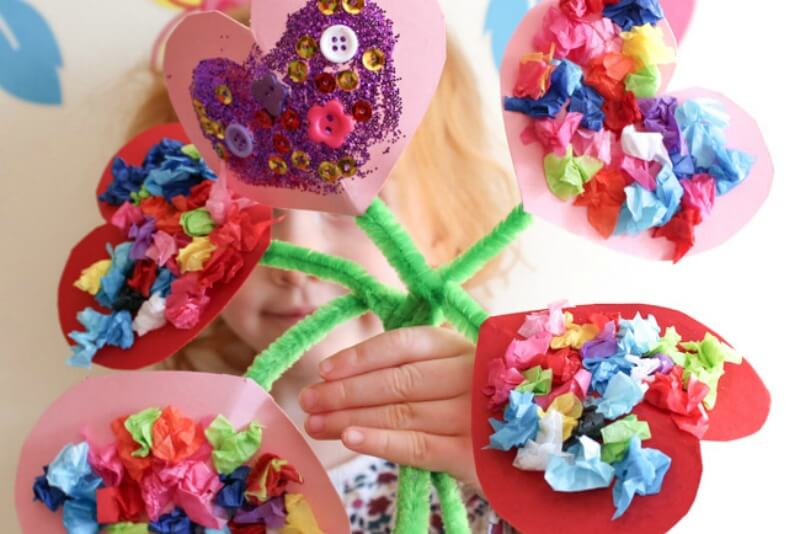 5 EASY Kid Crafts For Valentine's Day